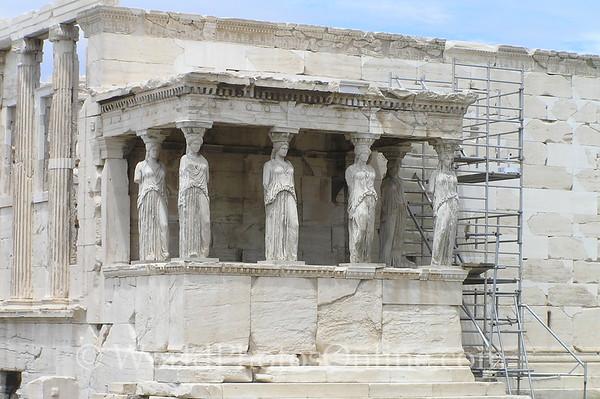 Athens - Acropolis - Erechtheion - Porch of the Kores