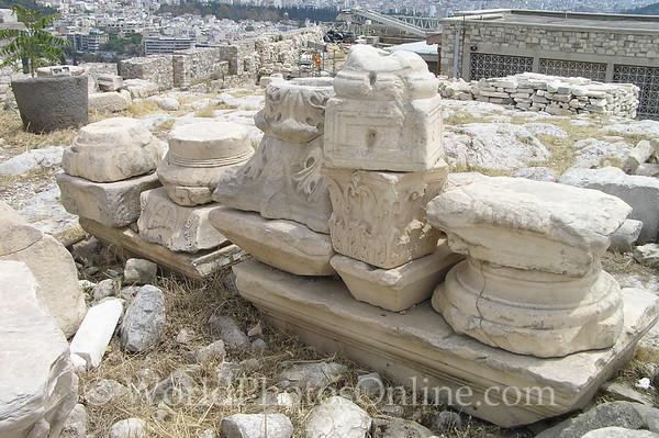 Athens - Acropolis - Column bases