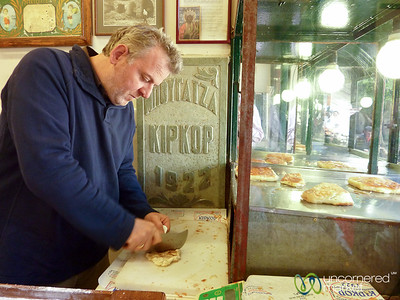 Bougatsa at Kipkop in Heraklion, Crete