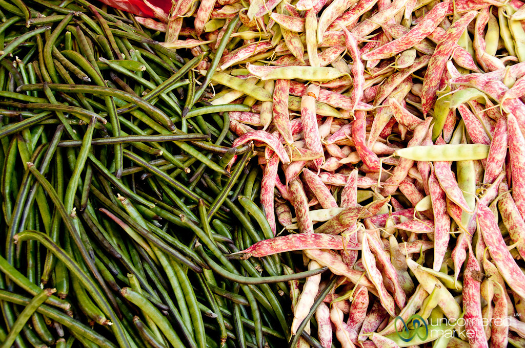Fresh Beans at the Heraklion Market - Crete, Greece