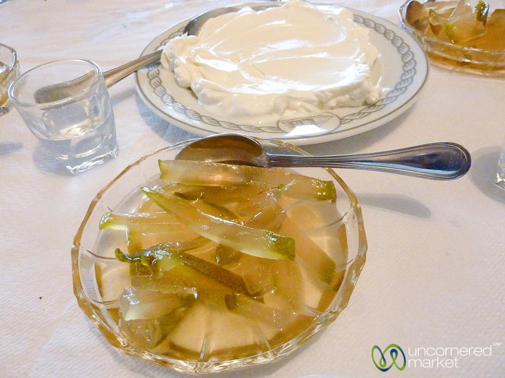Cretan Dessert of Bergamot and Greek Yogurt - Plaka, Crete