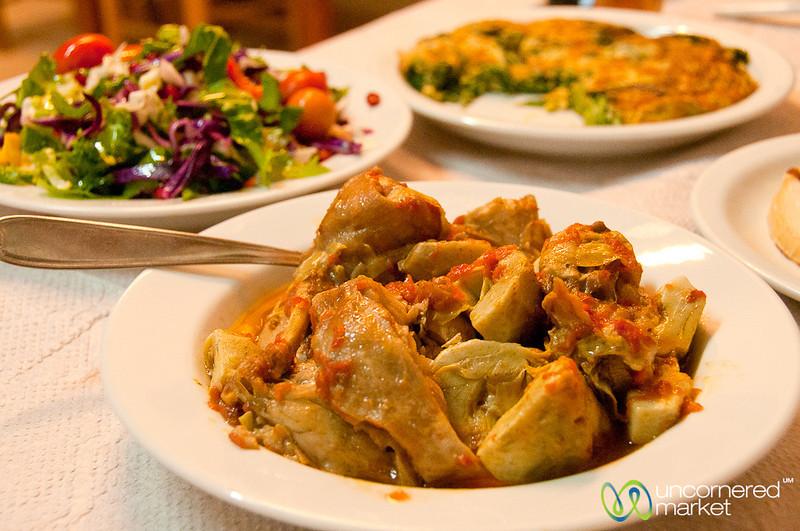 Rabbit and Artichoke Stew - Crete