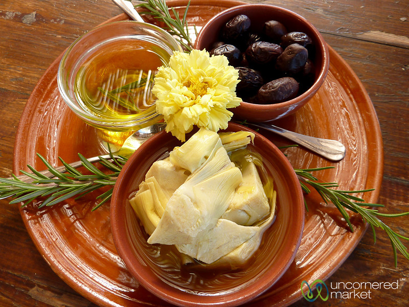 Artichokes, Olives and Olive Oil on Crete