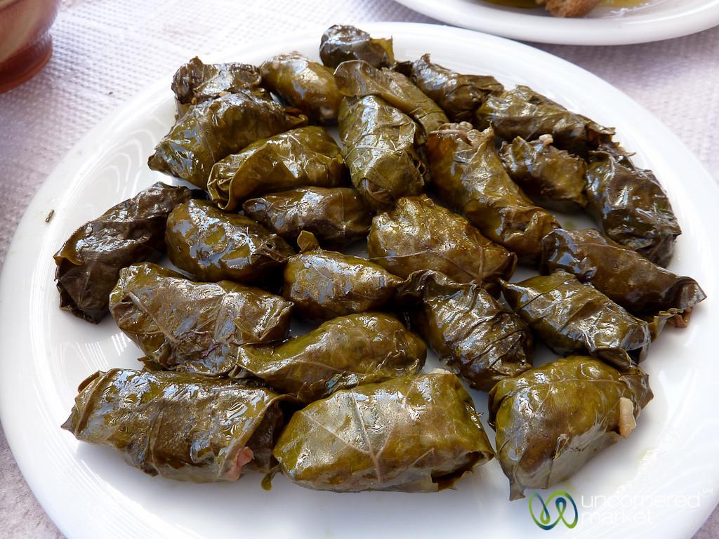 Dolmades (Stuffed Grape Leaves) - Crete, Greece