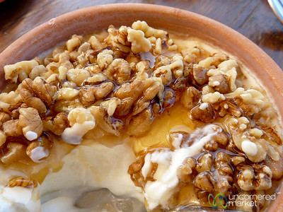 Greek Yogurt with Honey and Walnuts - Agreco Farm, Crete