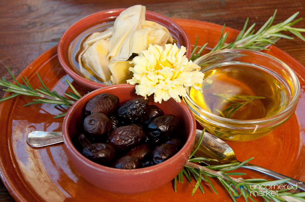 Cretan Olives, Artichokes and Olive Oil - Agreco Farm, Crete