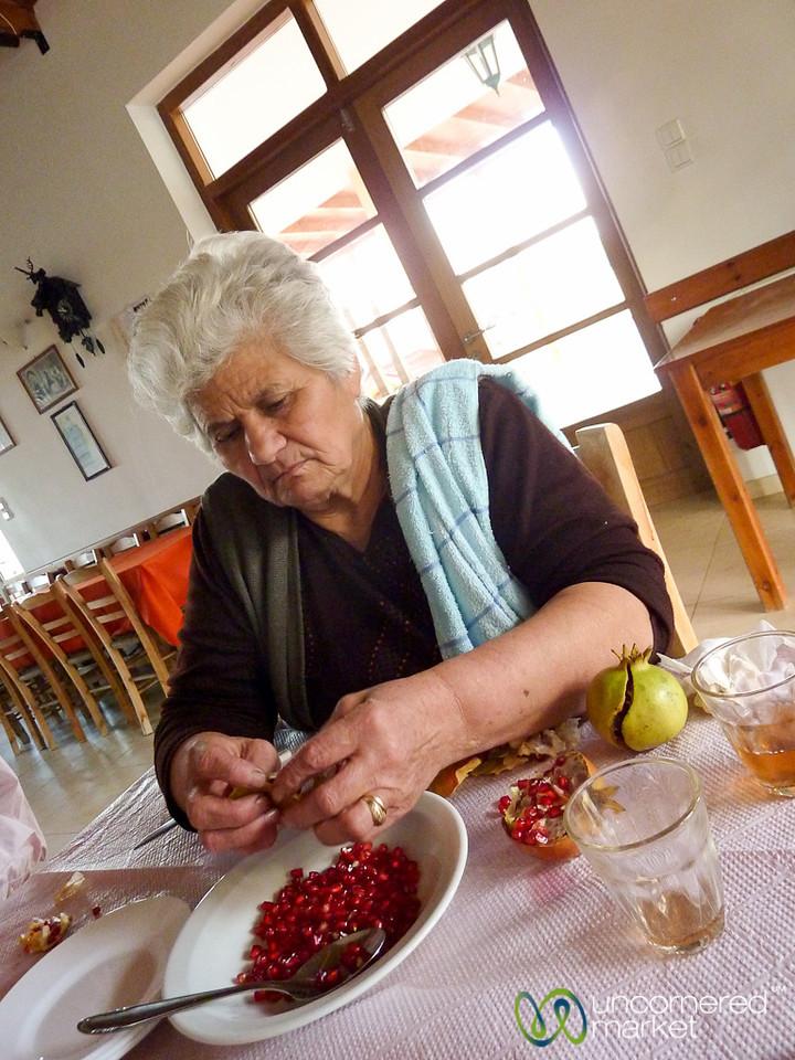 Pomegranate for Dessert - Crete, Greece