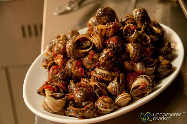 Cretan Snails for Lunch - Crete, Greece