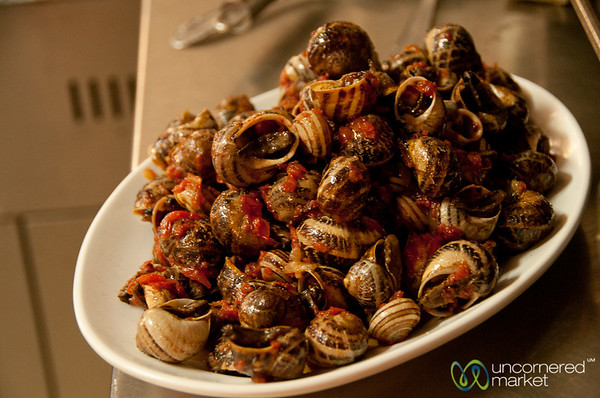 Cretan Snails for Lunch - Crete, Greece