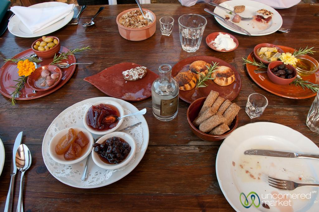 Crete Food Spread at Agreco Farm, Crete