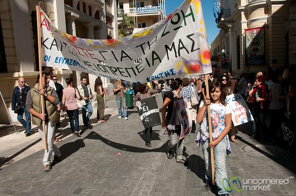 Greek Demonstrations in Heraklion, Crete