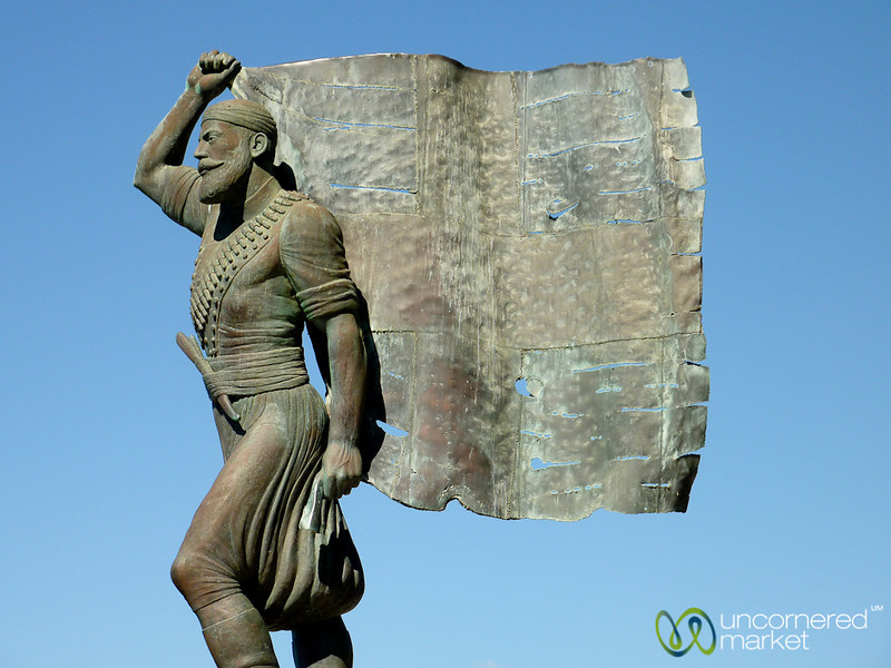 Statue of Spyros Kayales - Akrotiri, Crete
