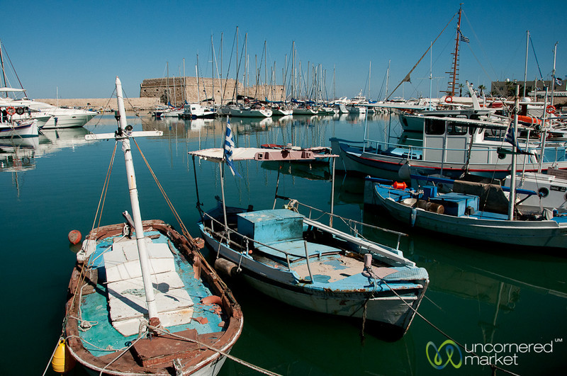 Sailboats at the Heraklion Harbor - Crete, Greece