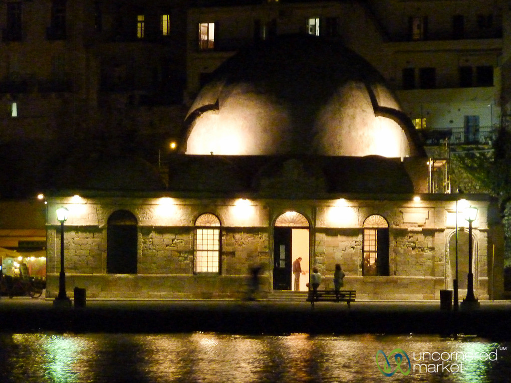 Turkish Mosque at Night - Crete, Greece