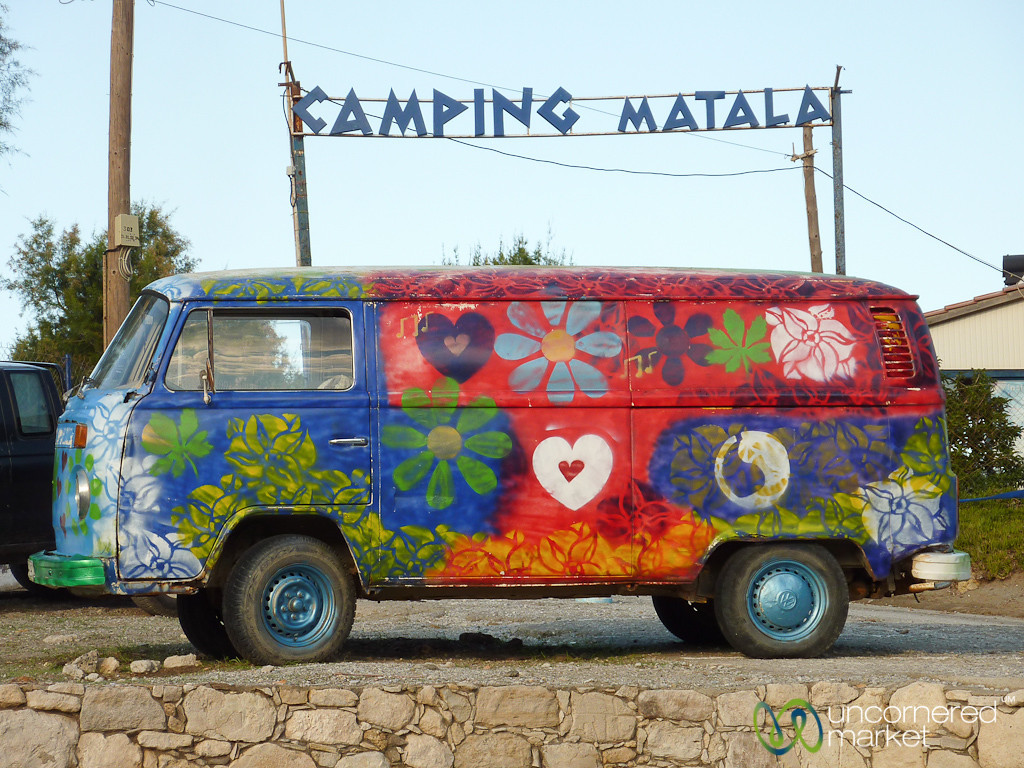 Matala Hippie VW Bus - Crete, Greece