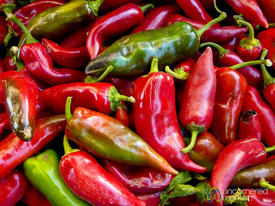 Peppers at the Heraklion Market - Crete, Greece