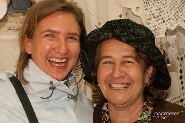 Audrey and Irene in Kritsa, Crete