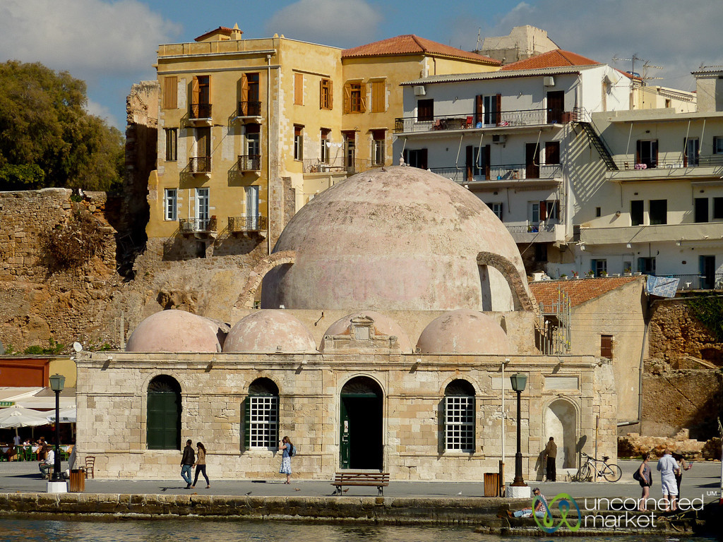 Turkish Mosque, Chania Harbor - Crete, Greece