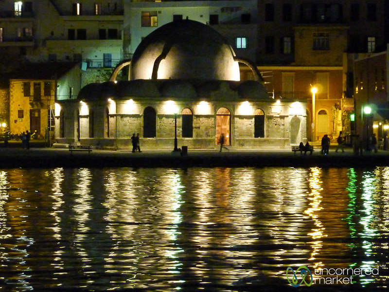 Turkish Mosque on Venetian Harbor - Chania, Crete