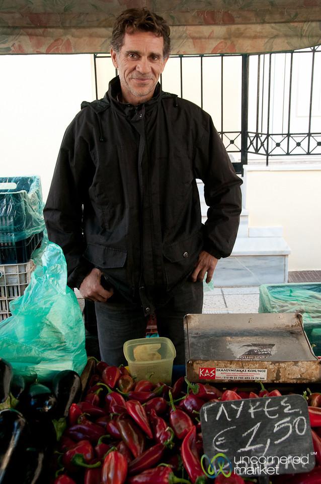 Heraklion Market Vendor - Crete, Greece