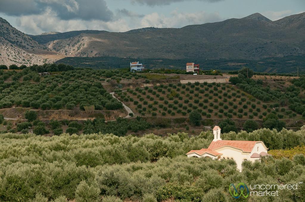 Church Shining in Sunshine - Crete, Greece