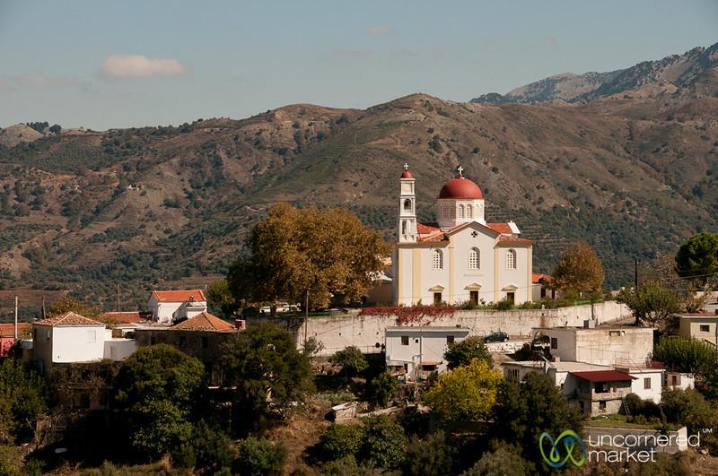 Greek Orthodox Church on Hill - Crete, Greece