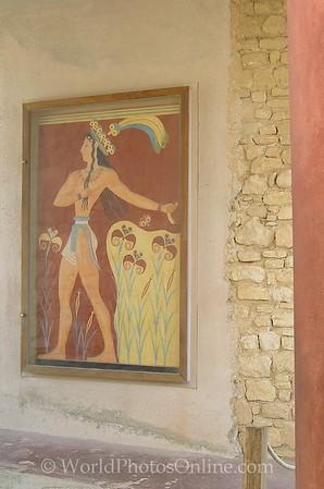 Crete - Knossos - Fresco 'Prince with Lilies'