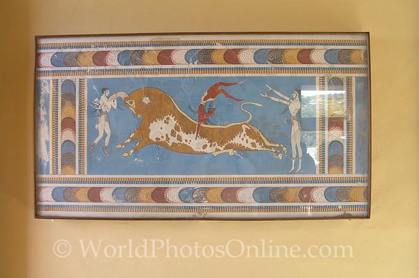 Crete - Knossos - Bull Leapers Fresco