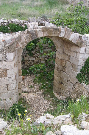 Crete - Rethymno - Venetian Fortress - Door in Ruins