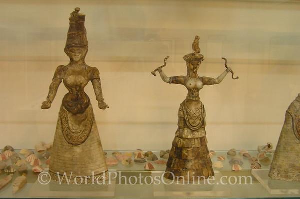 Crete - Iraklio - Archaeological Museum - Snake Goddess