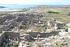 Delos - View of ruins toward port