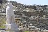 Delos - Statue in Ruins