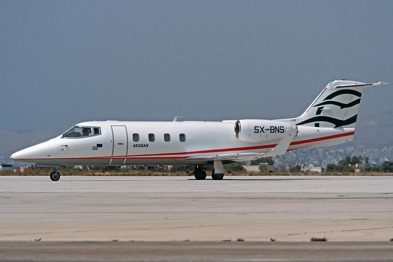 SX-BNS Learjet 55 c/n 55-072 Athens-Hellenikon/LGAT/ATH 20-09-00 (35mm slide)