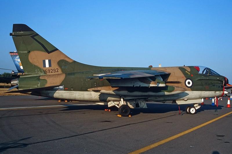 """159292 Ling-Temco-Vought A-7E Corsair II """"Greek Air Force"""" c/n E-430 Fairford/EGVA/FFD 25-07-99 (35mm slide)"""