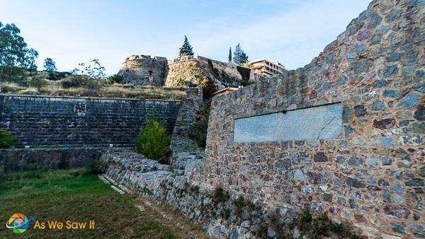 Wall of Nafplion's Land Gate