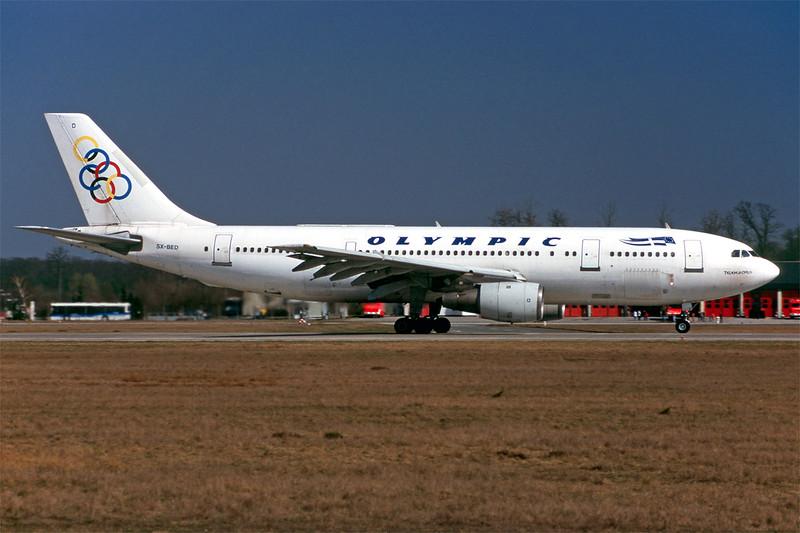 "SX-BED Airbus A300B4-103 ""Olympic Airways"" c/n 058 Frankfurt/EDDF/FRA 26-03-98 (35mm slide)"