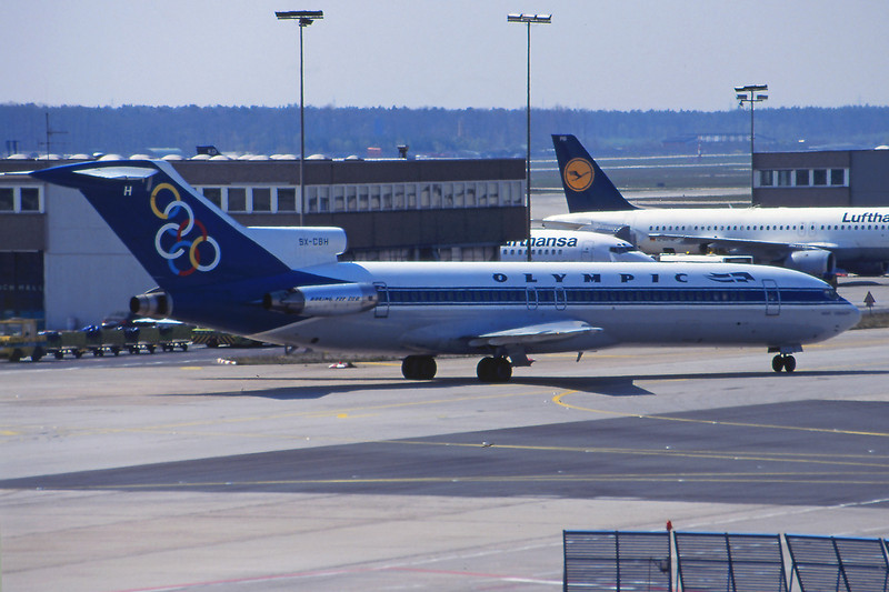 "SX-CBH Boeing 727-230 ""Olympic Airways"" c/n 20790 Frankfurt/EDDF/FRA 14-04-95 (35mm slide)"