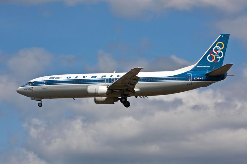 SX-BKE Boeing 737-484 c/n 25417 Heathrow/EGLL/LHR 18-07-09