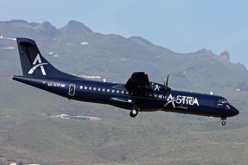 "SX-DIP Aerospatiale ATR-72-202 ""Astra Airlines"" c/n 328 Las Palmas/GCLP/LPA 03-02-16"