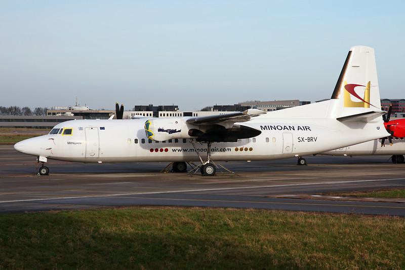 "SX-BRV Fokker 50 ""Minoan Air"" c/n 20199 Maastricht-Aachen/EHBK/MST 31-12-13"
