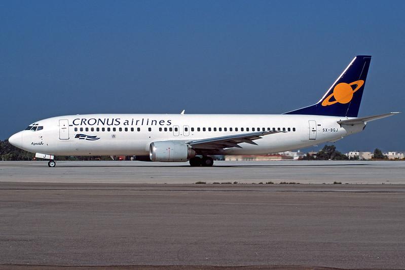 "SX-BGJ Boeing 737-4S3 ""Cronus Airlines"" c/n 25595 Athens-Hellenikon/LGAT/ATH 19-09-00 (35mm slide)"