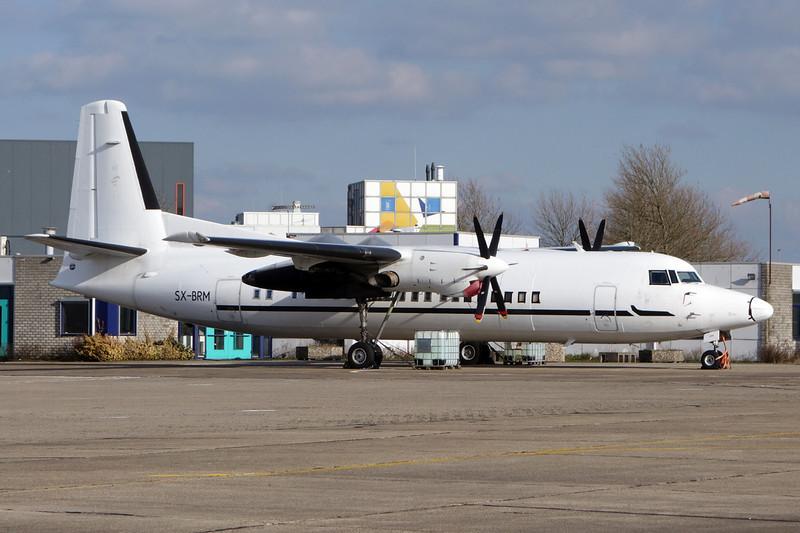 SX-BRM Fokker 50 c/n 20207 Maastricht-Aachen/EHBK/MST 02-03-14