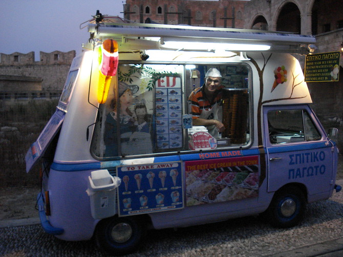 Home made gelati van
