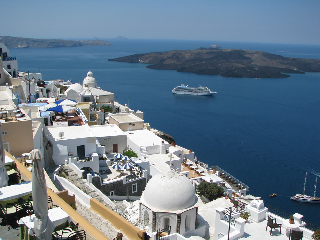 View and Volcano - Santorini, Greece - Photo