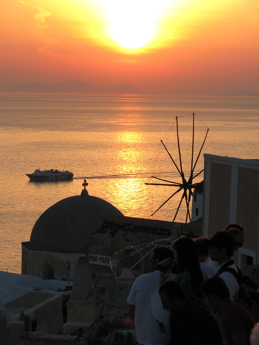 Sunset on Santorini - Io, Greece