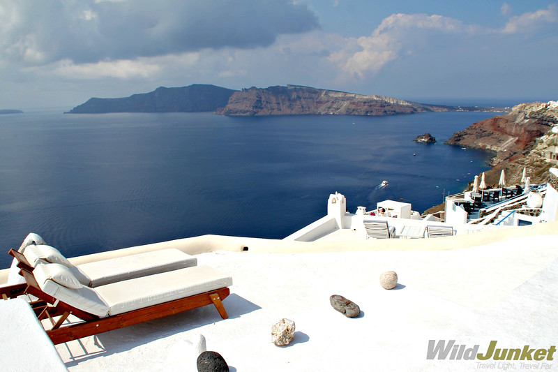 santorini with kids - view from our hotel