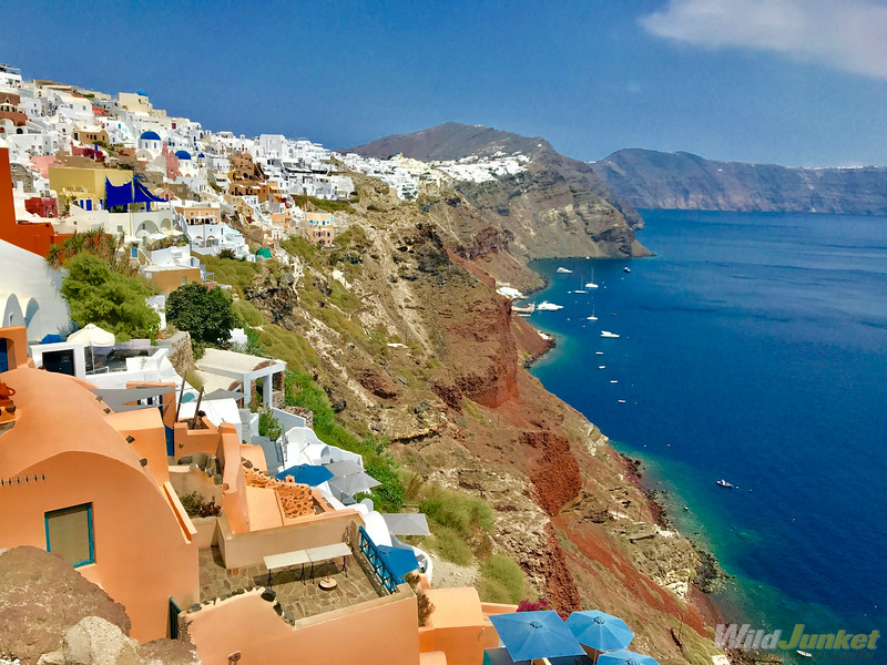 santorini with kids - clifftop town of Oia