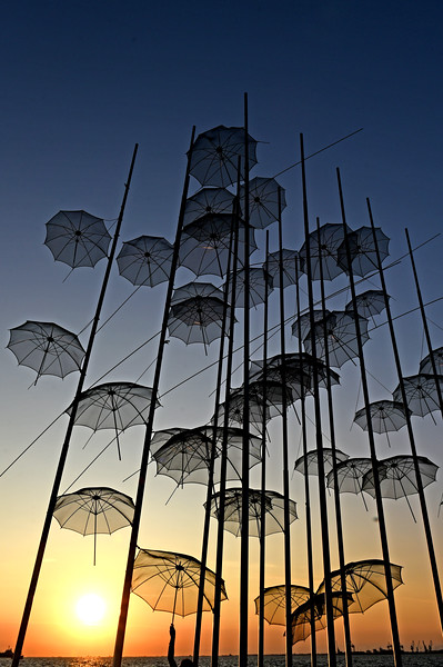 thessalonika umbrellas