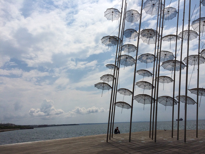 Thessaloniki umbrellas