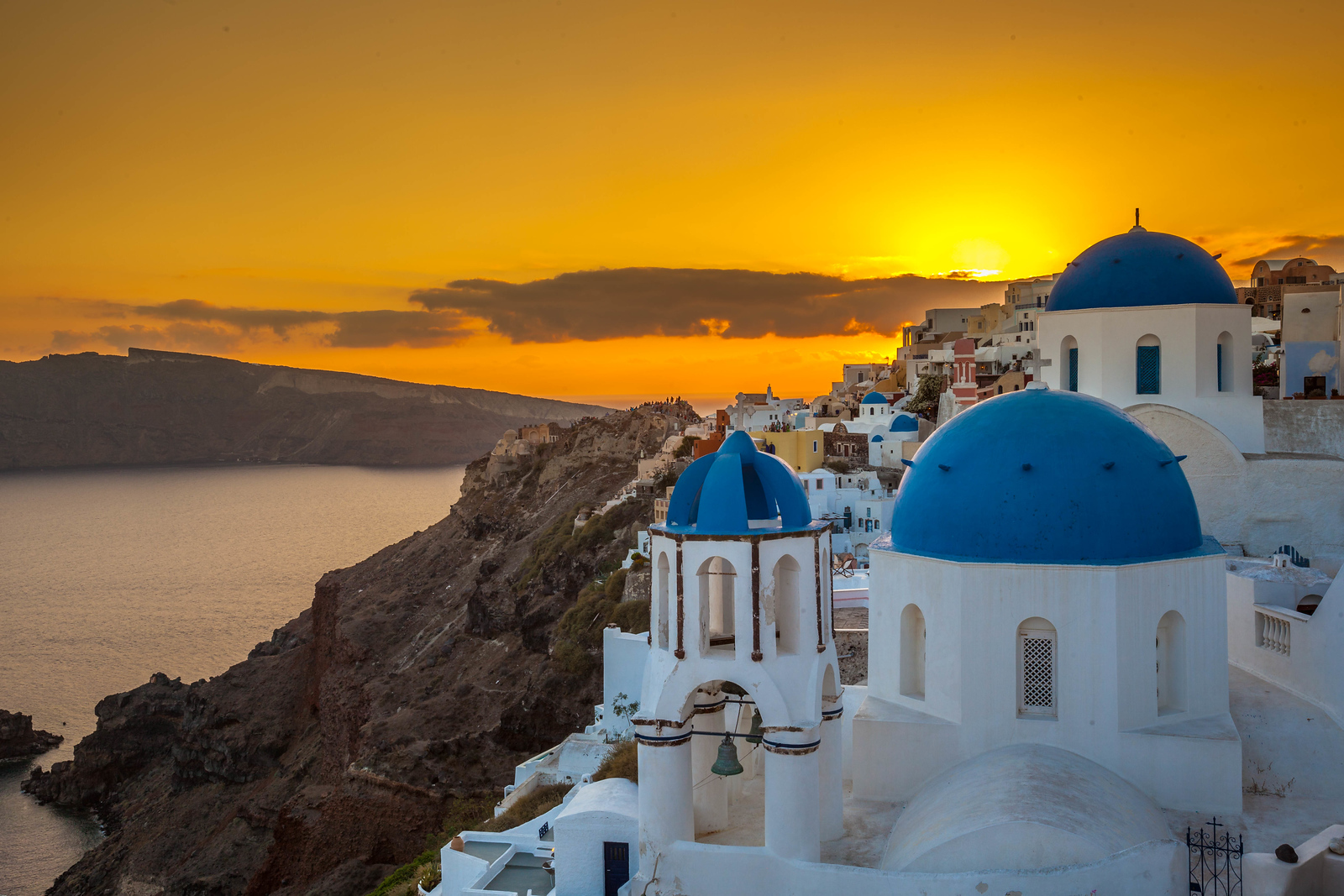 Goodnight from Santorini